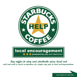 local encouragement -- drink coffee and give help to local aid-organisations