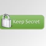 Keep secret  Button