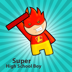 A regular but Super high shool boy