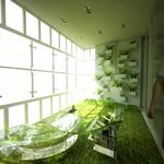 schöne grüne terrasse