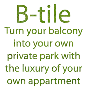 B-tile for decorating your Balcony floor! Grass, Wood or tiles!