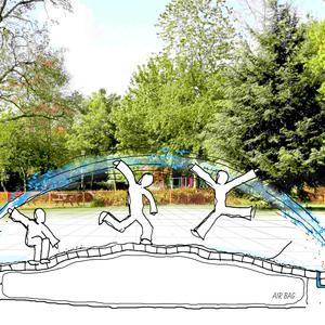 playground for kids and saving water