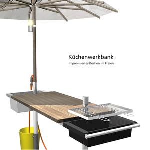 Küchenwerkbank – Improvisiertes Kochen im Freien