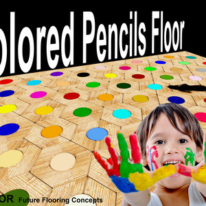 Colored Pencils Floor