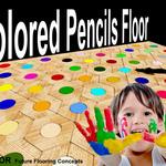 Colored Pencils Floor