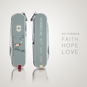 FAITH. HOPE. LOVE. VICTORINOX.