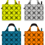 Colorful bags with a beautiful pattern