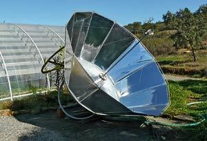 Solar stirling common waterpump 1 bigger