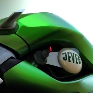 Futuristic Jever Harley-Davidson
