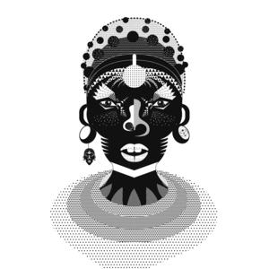 SAMBURU DANCER / KENYA, AFRICA / Illustration