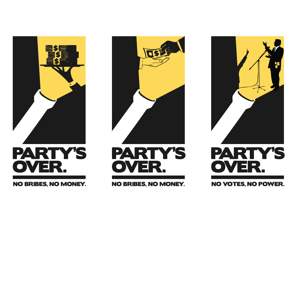 Partys over logo icon bigger