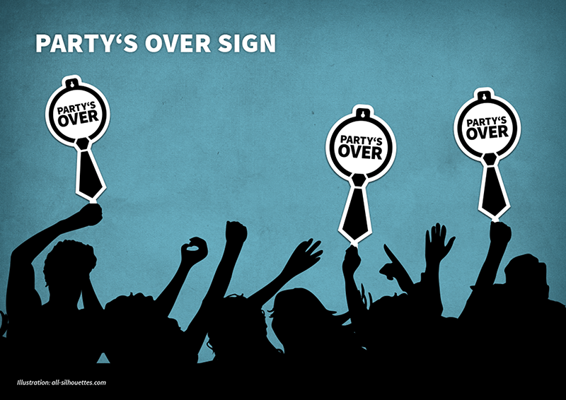 Ti partys over sign bigger