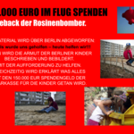Comeback der Rosinenbomber - 150.000 Euro im Flug an Berliner Kinderheime spenden