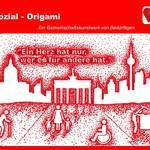 Sozial - Origami / Ein Gemeinschaftskunstwerk von Bedürftigen