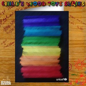 Children's wood toys series - Color's