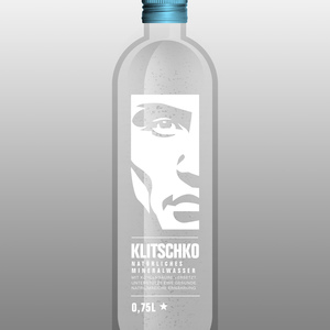 A bottle shaped like an oxygen cylinder and an iconic logo of K's face.
