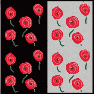 childhood painting-roses