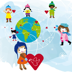 Children conect with love and peace