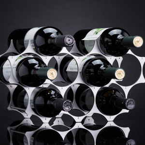 LUCIDITAS-Wine rack of brushed stainless steel