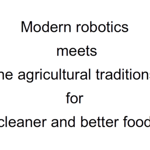 Robo-cook,Robo-gardener and Drone-courier come to help the clean fresh food