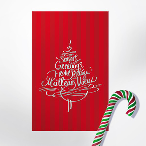 Calligraphy greetings. Season's Greetings