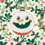 Holiday Card  with Snowman