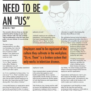 """WHY YOUR EMPLOYEES NEED TO BE AN """"US"""""""