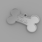 Pet necklace plate