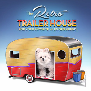 Retro Trailer House ~ For Your Favorite 4-Legged Friend  ⭐️ Update! ⭐️